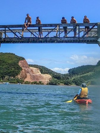 Tahi Beach - kayaking in the estuary