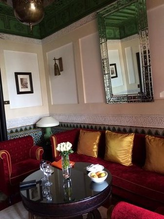 La Mamounia Marrakech : sitting area of our charming suite.