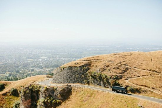Road Up Te Mata Peak with Black Rose Limousine