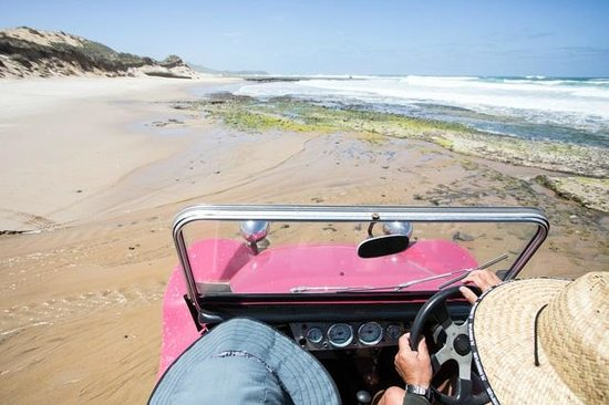 Sandtrails Hokianga : Driving along the beach