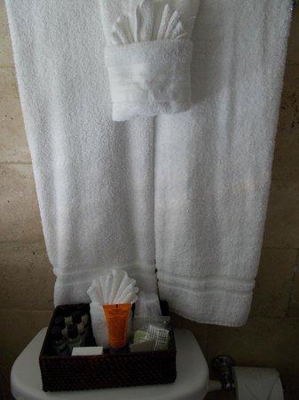 Hotel18: Toallas y elementos de higiene.