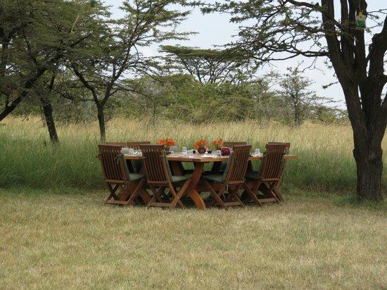 Kicheche Bush Camp: Lunch area