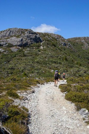 Cradle Mountain Huts: Ready to tackle the climb to Marion's Lookout