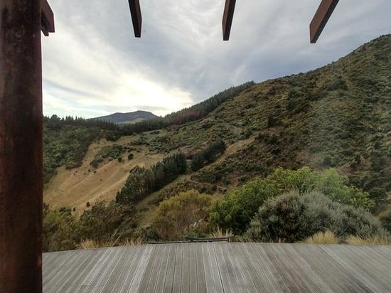 Parautane Lodge: Side window view from Pukeko room