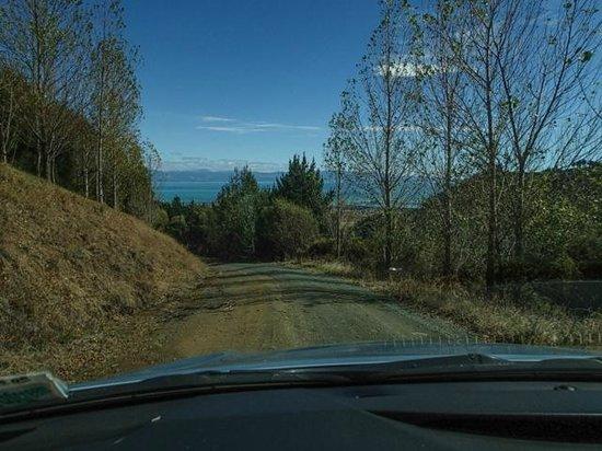 Parautane Lodge: Gravel road