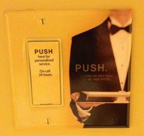 JW Marriott San Francisco Union Square: Push button concierge service!
