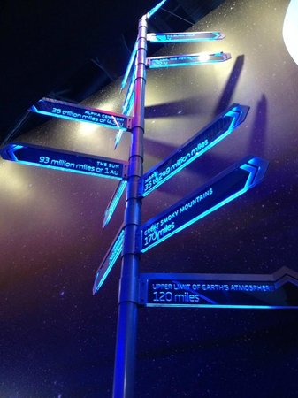 Adventure Science Center: Neat direction signs