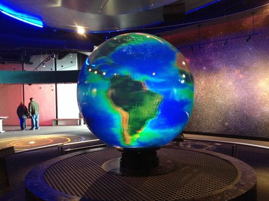 Adventure Science Center: This globe changed colors so you could look at each planet in detail