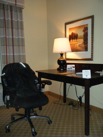 Country Inn & Suites By Carlson, Princeton : Desk with workstation chair and lots of outlets