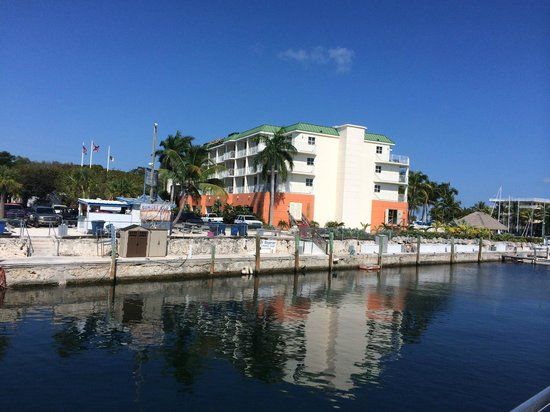 Courtyard Key Largo: View from the harbor
