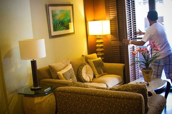 Henann Lagoon Resort: View from inside our Junior Suite