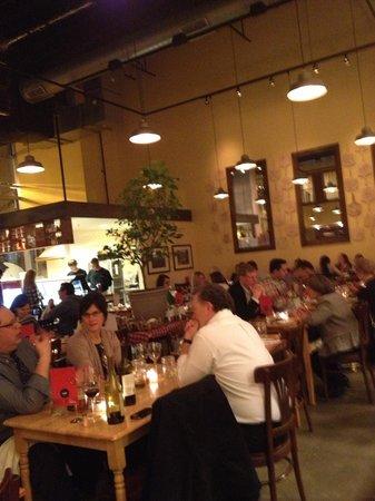 Pastaria: Gelato bar in background
