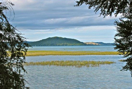 Novotel Rotorua Lakeside: The lake just off the hotel