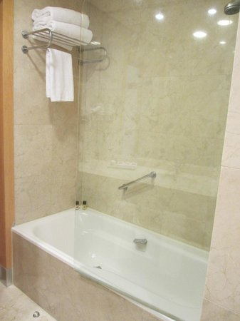 Hotel Preciados: Bathtub and Shower