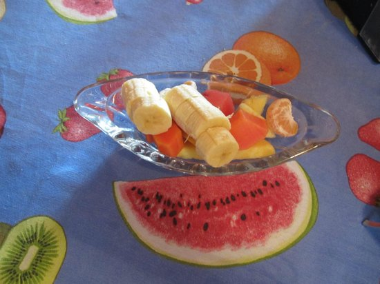 Hotel Las Orquideas: Fresh fruits for breakfast