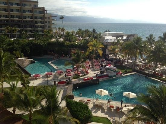 Now Amber Puerto Vallarta: pools from balcony 4th floor