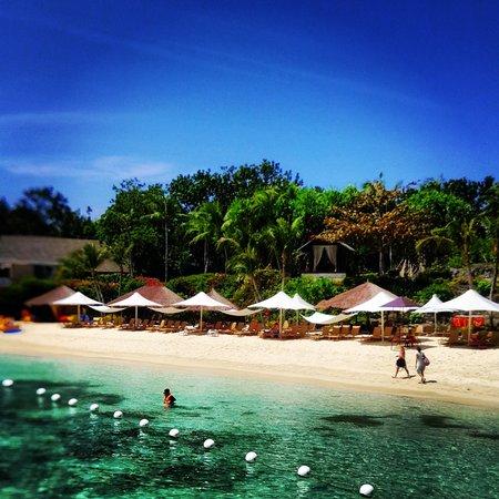 Shangri-La's Mactan Resort & Spa: the hotel beach