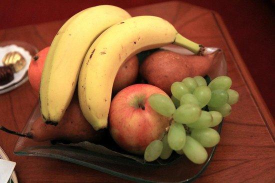 Fruit bowl at Opera Suites