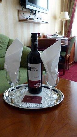 Wine in room at Opera Suites