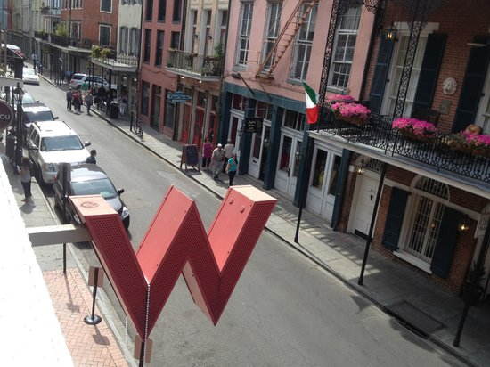 W New Orleans - French Quarter: Balcony view from 4th floor overlooking Chartres Street