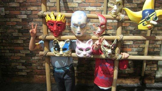 お面屋さんにはソゲキングのマスクがありました! - Picture of J-WORLD TOKYO, Toshima - TripAdvisor