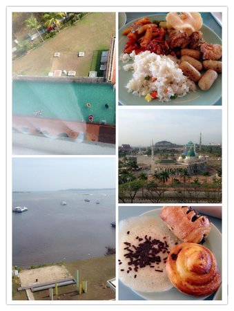 HARRIS Hotel Batam Center: (Seaview and City view) room and some of our breakfast.