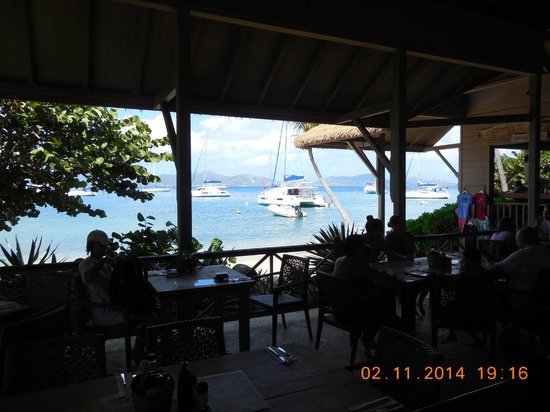 Cooper Island Beach Club Restaurant : The view from our lunch table at Coopers