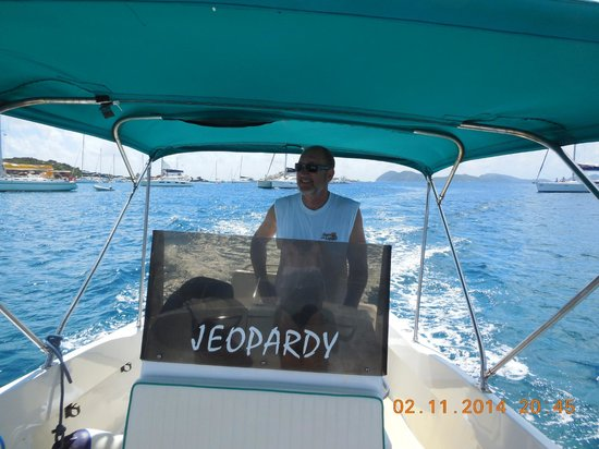Cooper Island Beach Club Restaurant : Jeopardy the boat with rent..... oh the fun we had.
