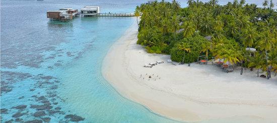 Dhevanafushi Maldives Luxury Resort Managed by AccorHotels: Mumayaz Restaurant Aerial View