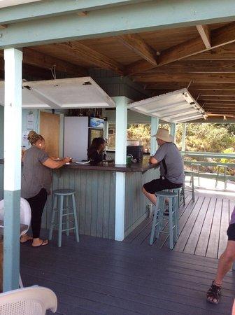 Hog Heaven: Thats me enjoying a rum and coke at Hog Haven