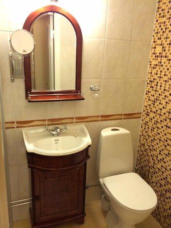Sundbyholms Slott: Bathroom in single room