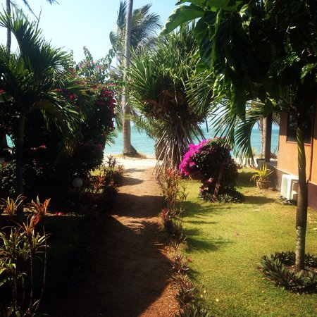 Phangan Beach Resort: Such a gruelling walk to the beach....