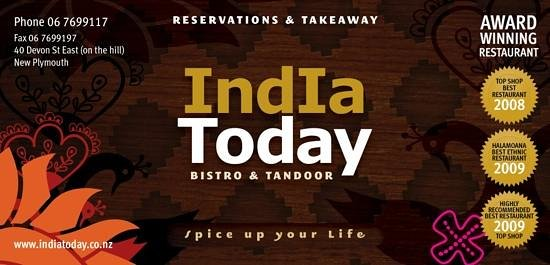 India Today Tandoor and Bistro: the only multiple award winning restaurant since 2008.