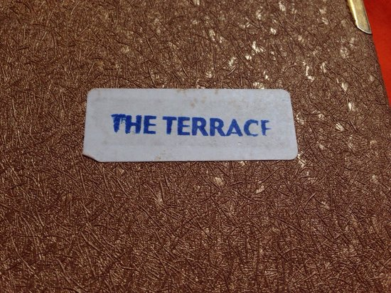 The Terrace: Menu