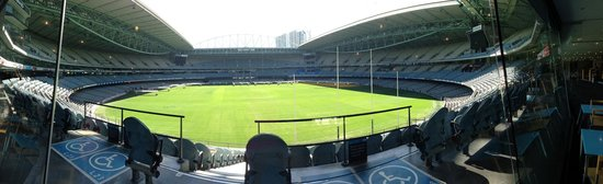Melbourne Sports Tours: Lunch view at Etihad Stadium