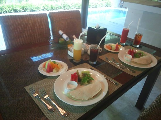 Villa Air Bali Boutique Resort & Spa: 朝食