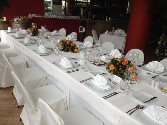 Vermell: The set up for a private function.