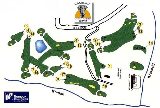Kambaku Komatipoort Golf Club: Course Layout