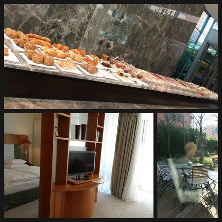The Mandala Hotel: Colazione, suite e giardinetto!
