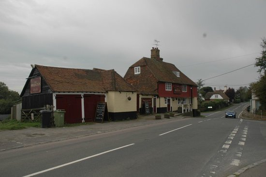 Dallington United Kingdom  City new picture : The Swan Inn viewed from opposite side of main road outside; with pub ...