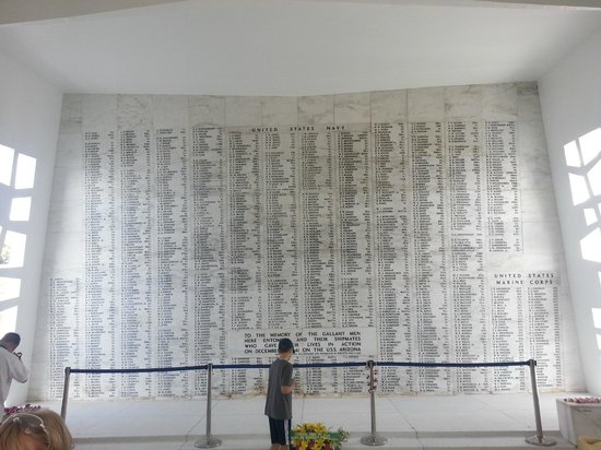 Pearl Harbor: Memorial wall
