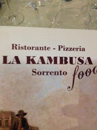 La Kambusa di Leonelli: Menu