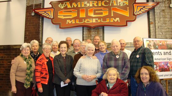 American Sign Museum: Group from Messiah Lutheran Church