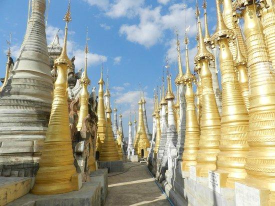 Village Indein : En haut de la pagode
