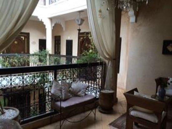 Riad Palais des Princesses : TERRAZZO SU QUALE SI AFFACCIANO ALCUNE STANZE