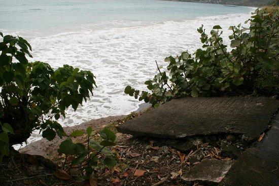Diamant Beach : Plus de plage