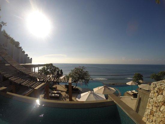 Anantara Uluwatu Bali Resort : view from outdoor jacuzzi/pool of room 605