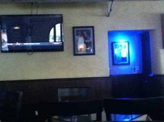 El Torito Sports Bar & BBQ House: To the right of the bar.