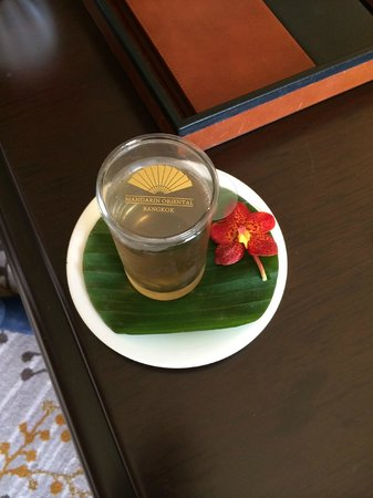 Mandarin Oriental, Bangkok: Willkommensgetränk