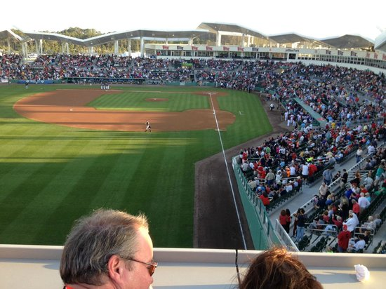 JetBlue Park: View from the roof deck on top of the Green Monster
